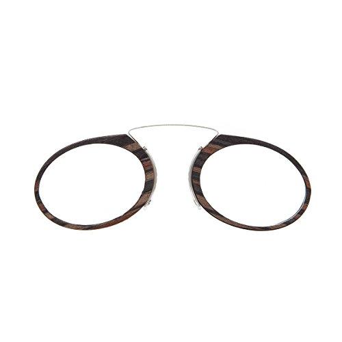 DIDINSKY Lesebrille für damen und herren transparent. Kompakte leichte randlose brillen. Brillengestelle für damen und herren. Lesehilfe Retro. 3 Farben und 5 Abstufungen - ORSAY WOOD