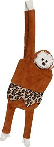shoperama Affen-Handtasche aus Plüsch Tasche Umhängetasche Braun Damen Mädchen Kinder Safari Dschungel Zoo AFFE Tarzan Jane