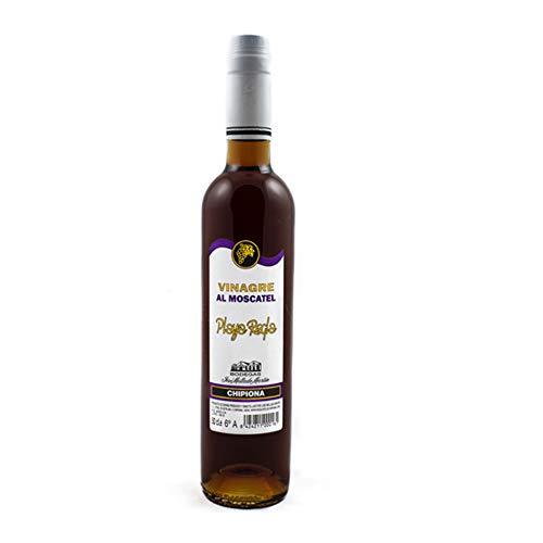Vinagre de Moscatel Gourmet, Playa de Regla envejecido en barrica de roble. Vinagre de jerez en botella de 500ml.