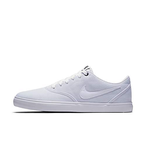 Nike SB Check Solar Cnvs, Zapatillas de Deporte para Hombre, Blanco White/Black 110, 47.5 EU