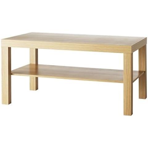 IKEA FALTA - Mesa de centro, efecto roble - 90x55 cm