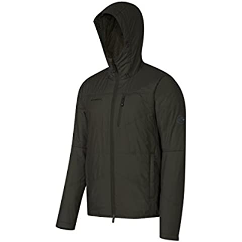Mammut Runbold IN Hooded Jacket Men (Down Jackets/Vests), color:titanium melange;size:XL