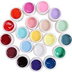 TOOGOO(R) Lot de 20 couleur Gel uv gamme milkshake pr ongles faux tip manucure