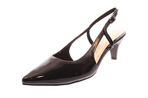 Tamaris 1-29601-28 Schuhe Damen Sling Pumps Sandalen, Schuhgröße:38;Farbe:Schwarz (Sling Schwarz Schuhe)
