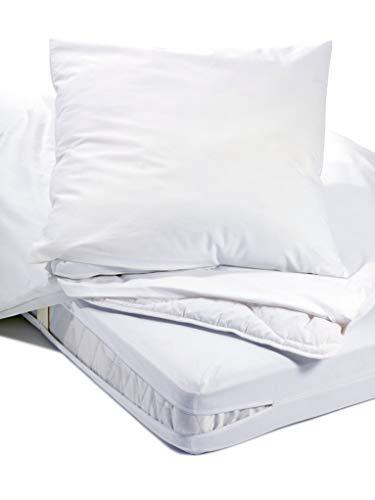 Allergiker Milben Bettwäsche Kissenbezug, Encasing Milbenkotdicht 80 x 80 cm, Milbenschutz für Hausstauballergiker