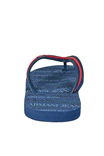 Armani Jeans - Tongs Armani jeans blanche A656138 Bleu Marine