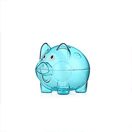 Uzinb Transparentes Monedas Caja plástica Caja Ahorro