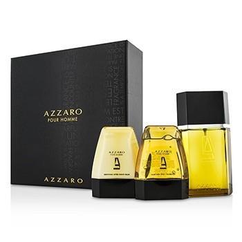 Azzaro Coffret: Eau De Toilette Spray 100ml/3.4oz + Hair & Body Shampoo 75ml/2.6oz + After Shave Balm 75ml/2.6oz - 3pcs