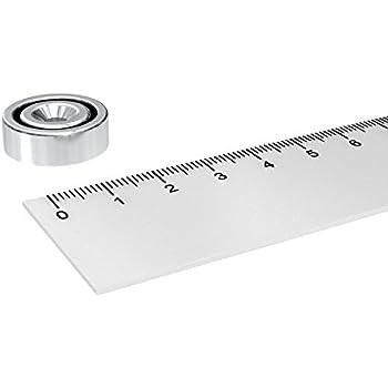 5x NEODYM TOPF MAGNET MIT 3.5 mm BOHRUNG UND SENKUNG WERKSTATT N35 16x5 mm