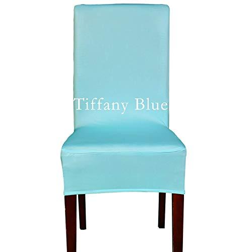 etch Sitzbezüge 2016 Große Förderung Günstige Spandex Maschine Waschbar Stuhlabdeckung für Hotel Dining Home Decoration 45X45X48 cm Tiffany Blau ()
