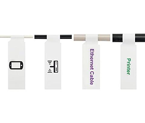 Mr-Label A4 auto-adhésif Étiquette de câble - avec l'outil d'impression en ligne gratuit - pour impression jet d'encre (10 Feuilles, 300 Étiquettes, Blanc)