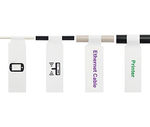 Mr-Label A4 Selbstklebende Kabel beschriften - mit Werkzeug kostenlosen Online-Druck - für Inkjet Printing (10 Blatt, 300 Labels, Weiß)
