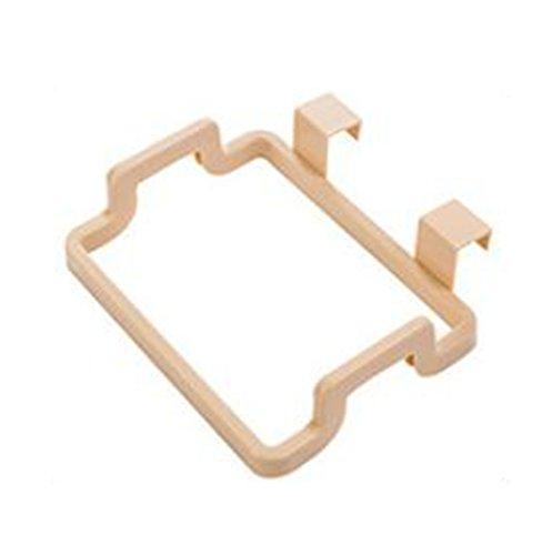 Leisial Basura Bolsa de Almacenamiento Soporte de Plástico Portátil Armario Cocina Gabinete Puerta para Colgar Beige