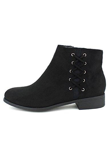 Cendriyon Bottine Noire Queens Lacets Chaussures Femme