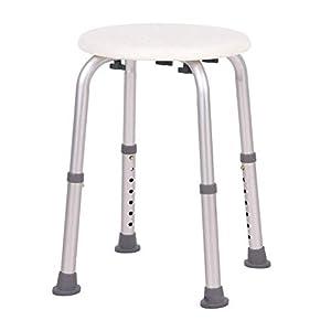 UISEBRT Duschhocker Badhocker Höhenverstellbar 150kg - Duschstuhl Duschhilfe Duschsitz Badsitz aus Alu und Kunststoff für Senioren, Kinder,Menschen mit Behinderungen