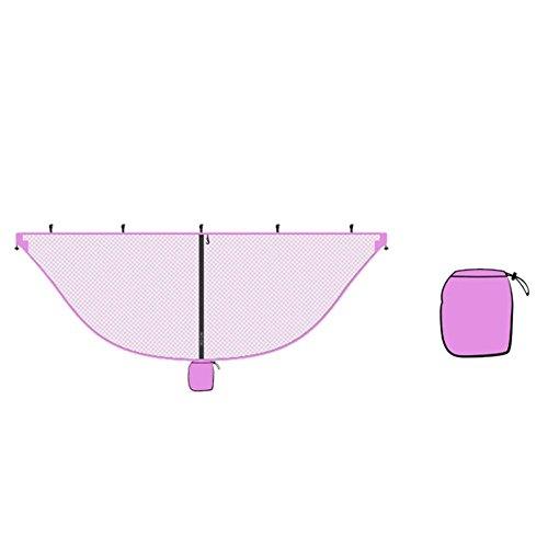 Oshide Hamac Bug Net Camping en Plein Air Mosquito Couverture Couverture No-See-Ums Polyester Tissu 360 Degrés De Protection, Double Face Diagonale Zipper Un Accès Facile, Convient Tous Les Hamacs