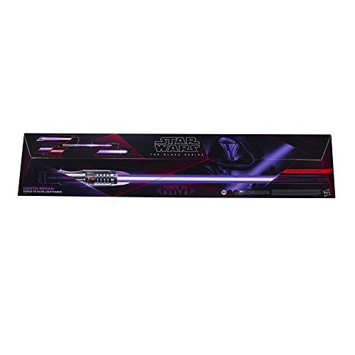 Star Wars The Black Series Darth Revan Force FX Elite Lichtschwert mit LED und Soundeffekten, Rollenspiel-Artikel für Erwachsene zum Sammeln