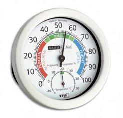 TFA Dostmann Thermo-Hygrometer mit edlem Aluminiumgehäuse