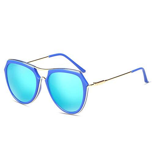 Thirteen Sonnenbrille Frauen Bunte Polarisierte Sonnenbrille Frauen Gesicht Brille UV-Schutz Vor Blendung, Verwendet Für Dekoration, Reisen, Fahren. (Color : Blue)
