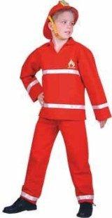 Feuerwehrmann Feuerwehr 2tlg Kinder Kostüm Gr (Kostüme Feuerwehrmann Accessoires)