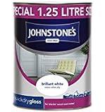 Johnstone's 307549 Quick Drying Gloss Paint - Brilliant White,1.25