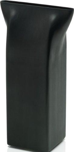 Alessi Vase ASH01 B Edelstahl 18/10 mit schwarzer PVD-Beschichtung -