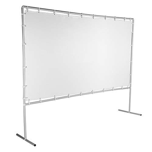 Projektor Vorhang, 120 Zoll Projektion Leinwand 16:9 Heimkino-Leinwand oder Business-Leinwand, mit Klammer, Seil und Haken, für 4K HD 3D Projektionsfläche Beamer