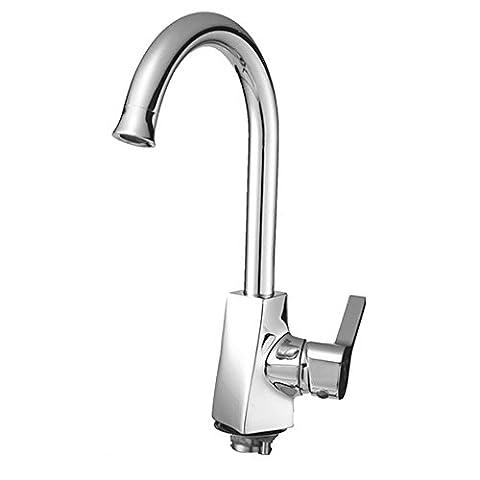 MIAORUI tout le cuivre chrome robinet, chaud et froid l'évier de cuisine, lavage du robinet