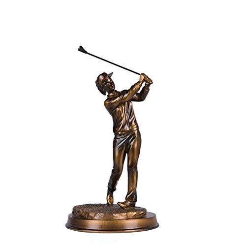 WENYAO Home33 Zubehör Einfache Und Modische Golf Figur Sport Skulptur Handwerk Dekoration Retro Wohnzimmer Büro Dekoration, 14 * 14 * 30 cm (Farbe: A) -