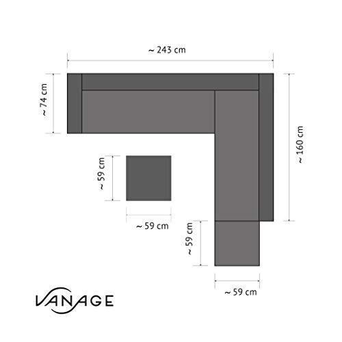 Vanage Rattan Gartenmöbel Set – mehrere Farben verfügbar - 7