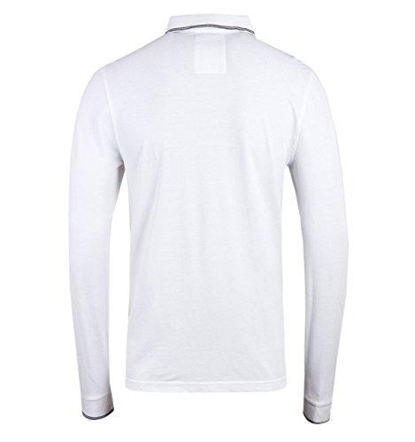 Luke 1977 Herren Poloshirt Weiß Marineblau