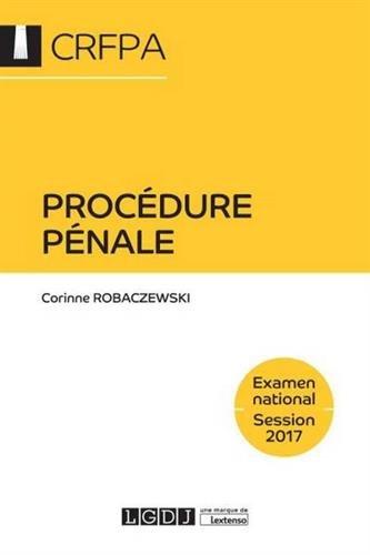 Procédure pénale - Examen national Session 2018