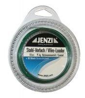 Jenzi Bas de ligne en acier 10m avec 20viroles