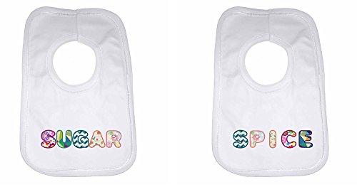 Zucker Spice-personalisierbar Baby, Kleinkind Lätzchen für Jungen, Mädchen, als Geschenk für Neugeborene-weiß