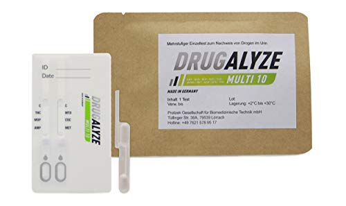 DRUGALYZE Multi 10 Drogentest - Made in Germany - Test auf 10 - Multi Drogentest