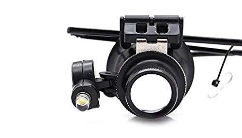 Brille Goggle Monokular Lupe 20X mit LED-Licht
