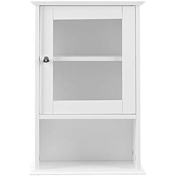 Premier Housewares Portland Hängeschrank, Glastür und