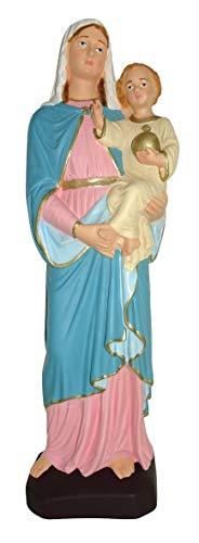 Ferrari & Arrighetti Estatua de Exterior Virgen María con Niño Jesús de Material irrompible Pintada a Mano - 30 cm