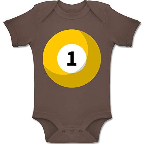 Shirtracer Karneval und Fasching Baby - Billardkugel 1 Kostüm - 6-12 Monate - Braun - BZ10 - Baby Body Kurzarm Jungen Mädchen (Monaten Kostüme Vor Baby-mädchen 6 9)
