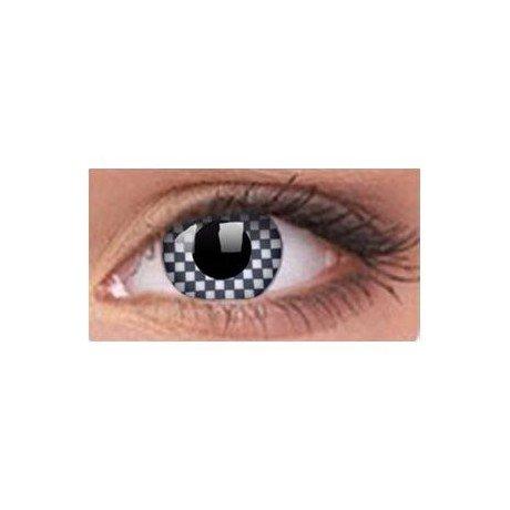 1 Paar farbige Kontaktlinsen chequered ohne Dioptrien 3-Monats-Linse