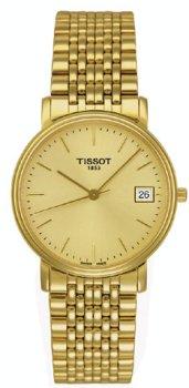 Tissot Desire - Reloj de cuarzo para hombre, con correa de acero inoxidable, color dorado