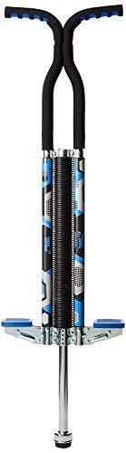 Think Gizmos Palo Saltador Pogo para Jinetes 80lbs A 160lbs - Saltador Pogo King Palo para Niños Y Niñas (y Adultos Ligeros) - Calidad De Construcción Sólida (Azul y Negro)