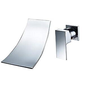 Encantadores Accesorios de plomería de una manija Montaje en Pared generalizada Cascada de bañera Grifo de Lavabo de…