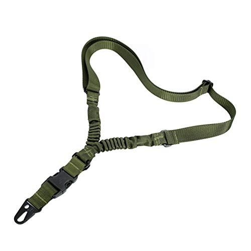 Oleader 1Punkt Gewehr Sling Multi Gun Gurt Verstellbare Schulter Seil mit elastischer Kordel für Jagd Camping Outdoor Sport, grün