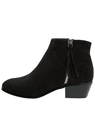 Even&Odd Ankle Boots Damen in Schwarz – Kurzschaft Stiefel mit 4 cm Absatz in Cowboy Western Style,