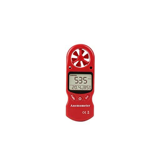 Besttse 3-in-1 Digitaler Anemometer Thermometer Hygrometer Temperaturmessung Luftfeuchtigkeit Windgeschwindigkeit Tragbar LCD Meter für Outdoor-Sport -