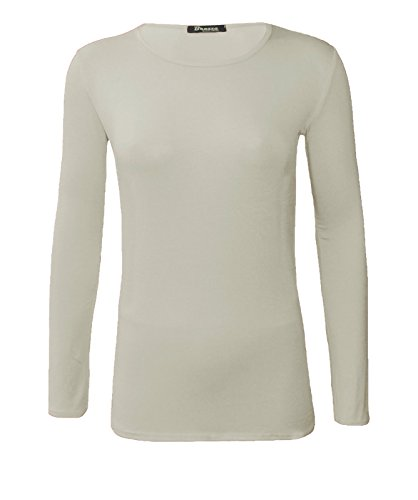 Lush Clothing -  T-shirt - Maniche lunghe  - Donna Crema