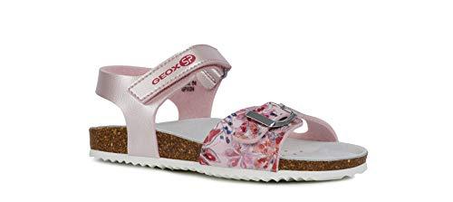 Geox Adriel Girl J928MB Niñas Sandalias de Vestir,Sandalia tacón,Chica Sandalia Profunda Plantilla,Zapatillas,Zapatos de Verano,Sandalia de Verano,Rosa,27 EU