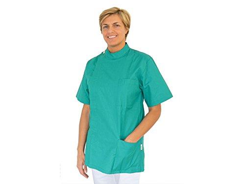 Casacca dentista gima, verde s, 100% cotone, produzione italiana
