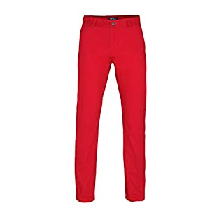 Mens Chino Trousers by Asquith and Fox - Cherry Red - 38 Regular